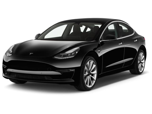 2019 Tesla Model 3 Standard Range Battery Plus RWD Angular Front Exterior View