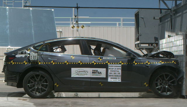 NHTSA told Tesla to stop claiming its Model 3 was the safest car ever tested