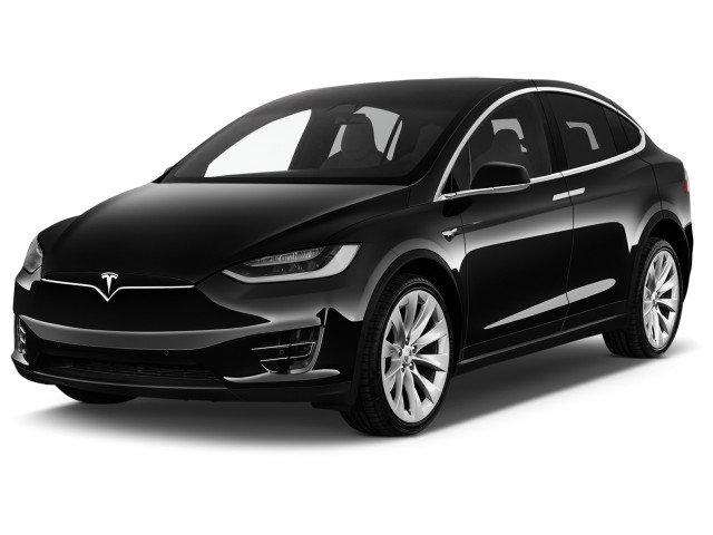 2019 Tesla Model X Long Range AWD Angular Front Exterior View