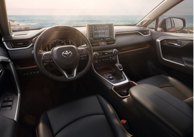 2019 toyota rav4 takes on tough new look. Black Bedroom Furniture Sets. Home Design Ideas