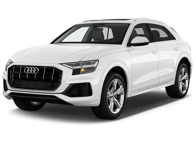 2020 Audi Q8 Premium Plus 55 TFSI quattro Angular Front Exterior View