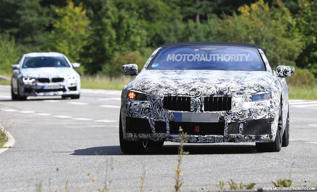 2020 BMW M8 Convertible spy shots - Image via S. Baldauf/SB-Medien