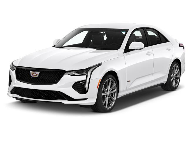 2020 Cadillac CT4 4-door Sedan V-Series Angular Front Exterior View
