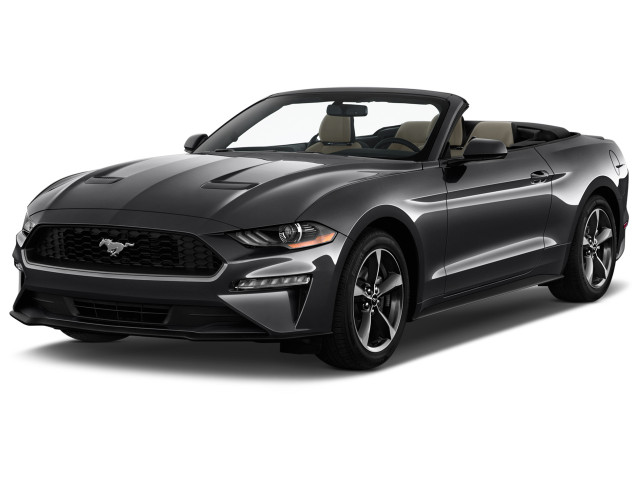 2020 Ford Mustang EcoBoost Convertible Angular Front Exterior View