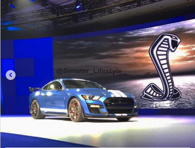 2020 Ford Mustang Shelby GT500 leaked on Instagram via @sinister_lifestyle