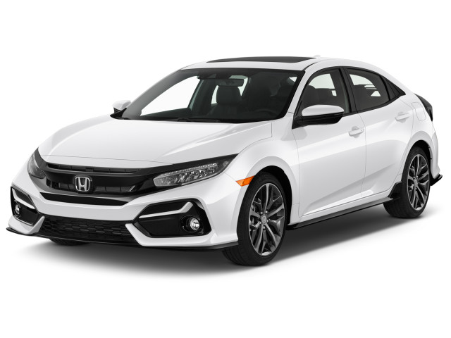 2020 Honda Civic Sport Manual Angular Front Exterior View