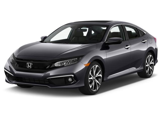 2020 Honda Civic Touring CVT Angular Front Exterior View