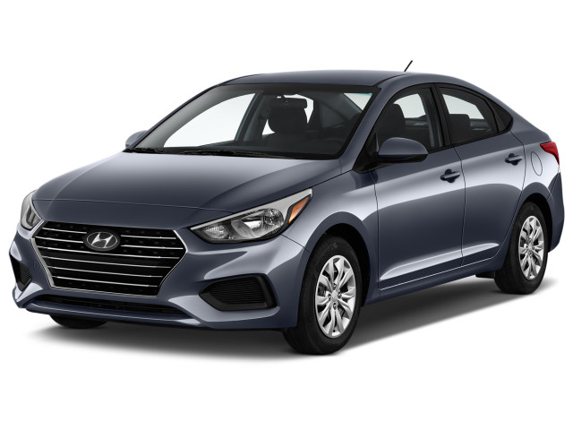 2020 Hyundai Accent SE Sedan IVT Angular Front Exterior View