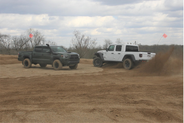 2020 Jeep Gladiator Mojave and 2020 Toyota Tacoma TRD Pro