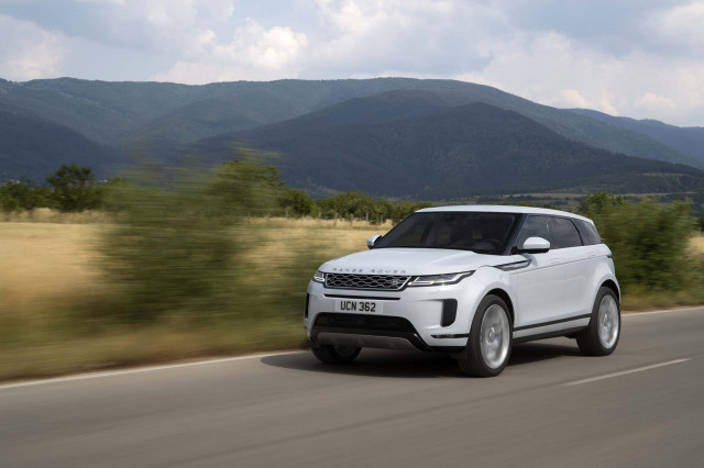 2020 Land Rover Range Rover Evoque rated at 23 mpg combined