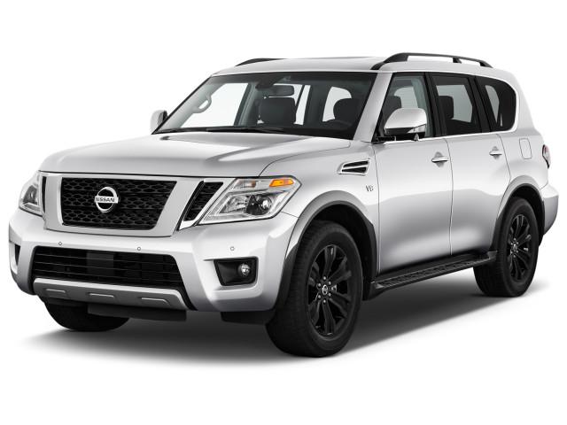 2020 Nissan Armada 4x4 Platinum Angular Front Exterior View