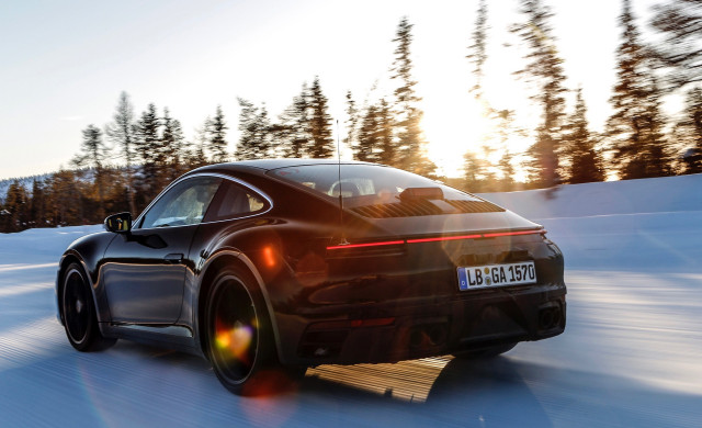 Porsche tests new version of a sports coupe 911