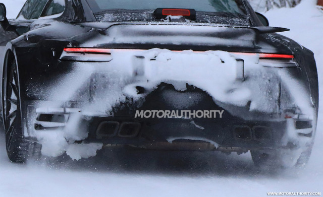 2020 Porsche 911 Turbo spy shots - Image via S. Baldauf/SB-Medien