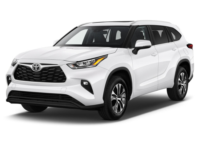 2020 Toyota Highlander XLE AWD (GS) Angular Front Exterior View