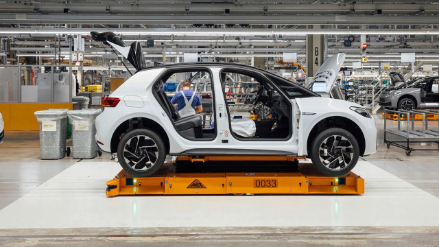 2020 Volkswagen ID 3 production at plane in Zwickau, Germany