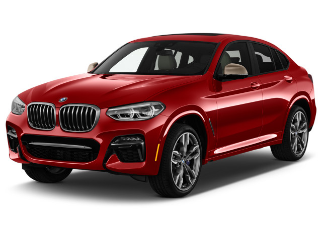2021 BMW X4 M40i Sports Activity Coupe Angular Front Exterior View