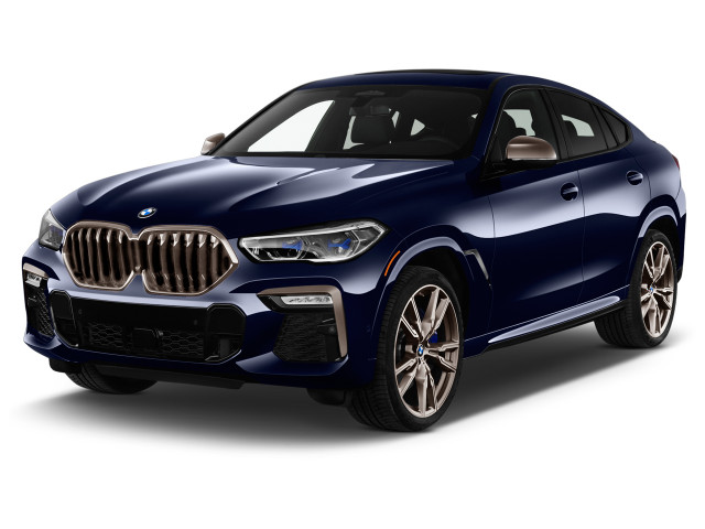 2021 BMW X6 M50i Sports Activity Coupe Angular Front Exterior View