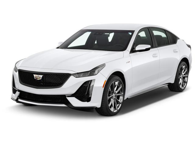 2021 Cadillac CT5 4-door Sedan V-Series Angular Front Exterior View