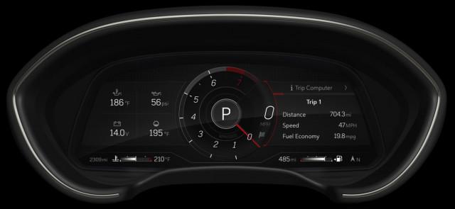 2021 Cadillac CT4/CT5 12-inch digital gauge cluster