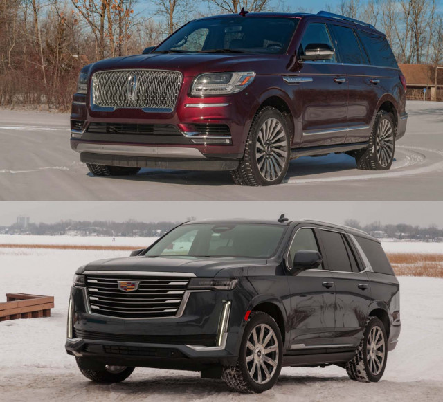 2021 Cadillac Escalade vs. 2021 Lincoln Navigator: Compare SUVs