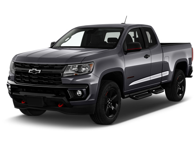 """2021 Chevrolet Colorado 2WD Ext Cab 128"""" Work Truck Angular Front Exterior View"""