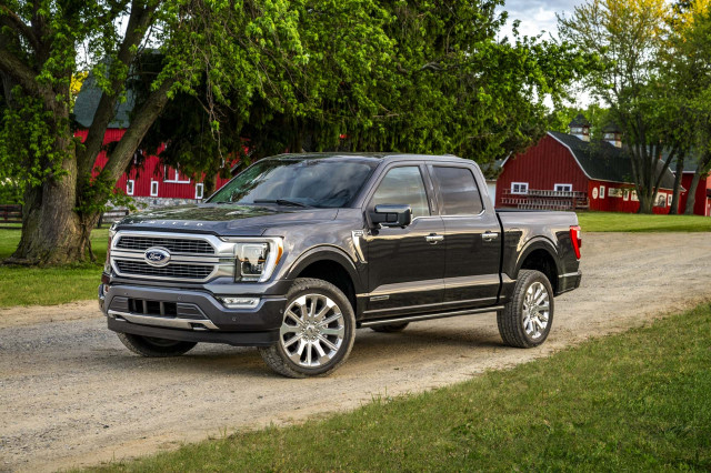 2021 Ford F-150 pickup truck starts at $30,635, tops out near $80,000