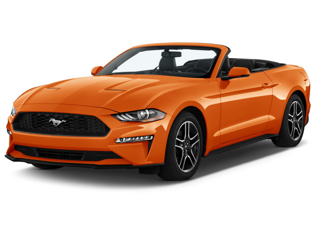 2021 Ford Mustang EcoBoost Premium Convertible Angular Front Exterior View