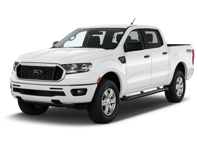 2021 Ford Ranger XLT 4WD SuperCrew 5' Box Angular Front Exterior View
