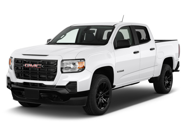 """2021 GMC Canyon 2WD Crew Cab 128"""" Elevation Standard Angular Front Exterior View"""