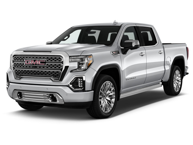 "2021 GMC Sierra 1500 2WD Crew Cab 147"" Angular Front Exterior View"
