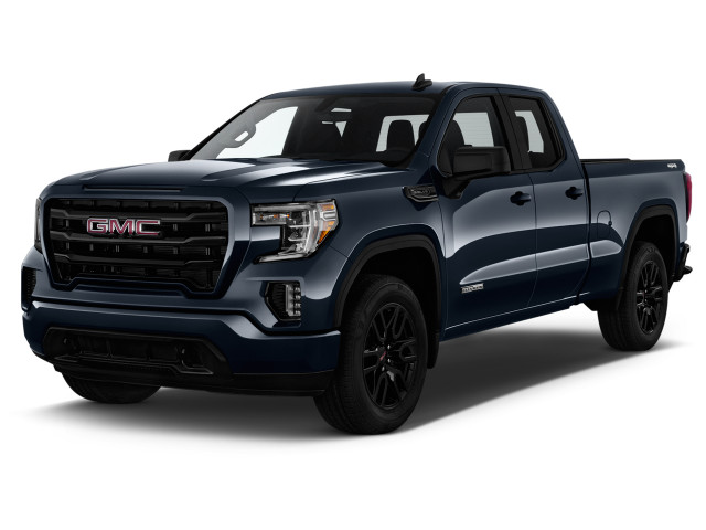 """2021 GMC Sierra 1500 4WD Double Cab 147"""" Elevation Angular Front Exterior View"""