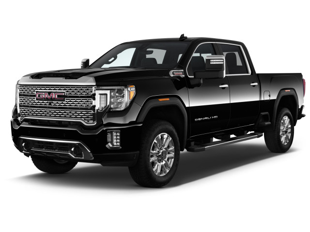 "2021 GMC Sierra 2500HD 4WD Crew Cab 159"" Denali Angular Front Exterior View"