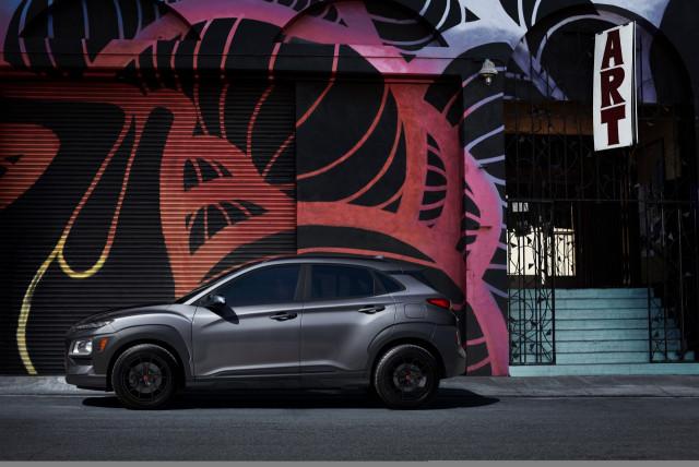 2021 Hyundai Kona Night Edition blacks out small crossover