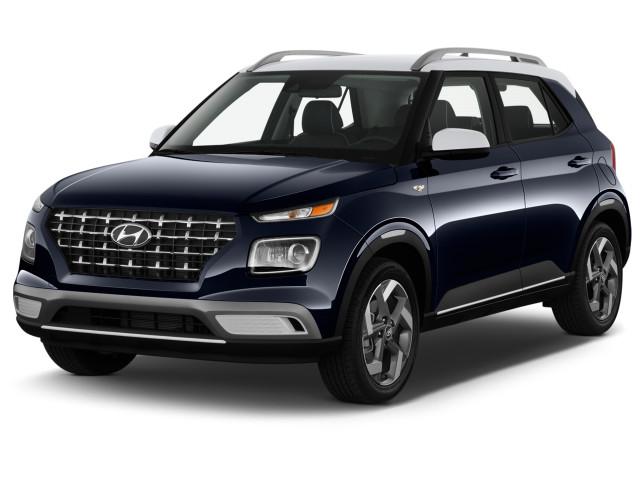 2021 Hyundai Venue Denim IVT Angular Front Exterior View
