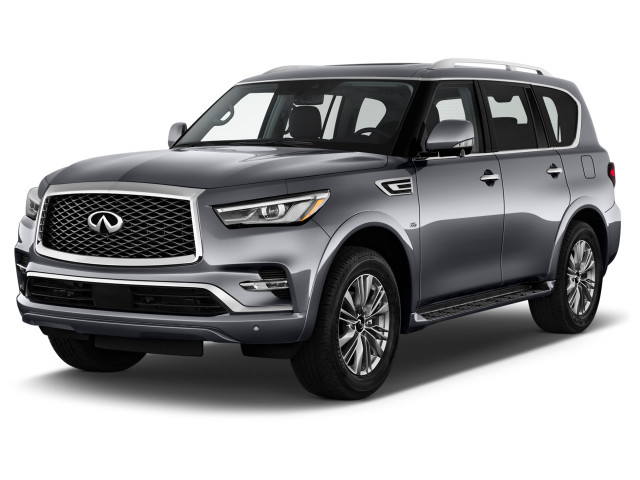 2021 INFINITI QX80 LUXE RWD Angular Front Exterior View