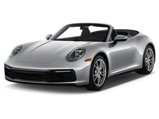2021 Porsche 911 Carrera Cabriolet Angular Front Exterior View