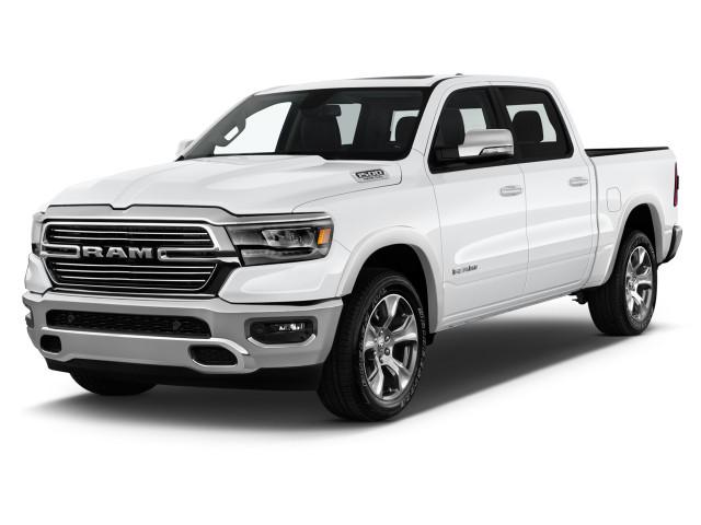 "2021 Ram 1500 Laramie 4x2 Crew Cab 5'7"" Box Angular Front Exterior View"