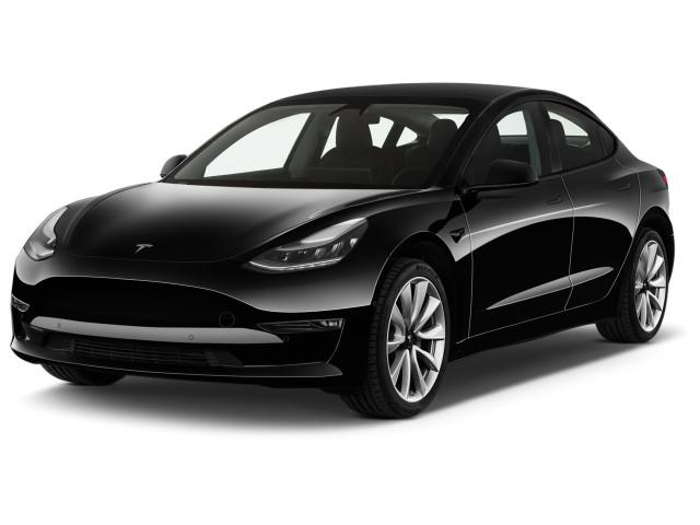 2021 Tesla Model 3 Long Range AWD Angular Front Exterior View