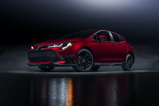 New 2021 Toyota Corolla Hatchback Special Edition sees red instead of black