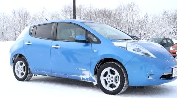 2017 Nissan Leaf Winter Test