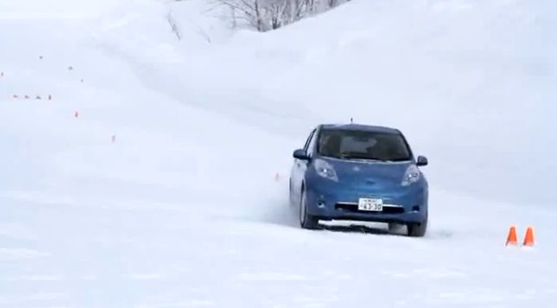2212 Nissan Leaf Winter Test