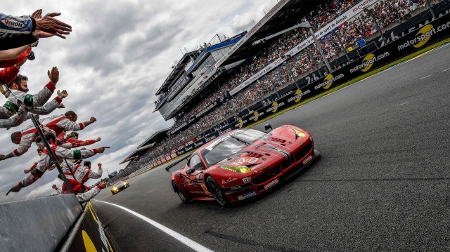 #62 Scuderia Corsa Ferrari 458 Italia at the 2016 24 Hours of Le Mans