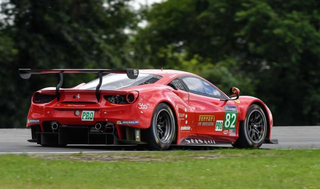 #82 Risi Competizione Ferrari 488 GTE at the 2016 24 Hours of Le Mans