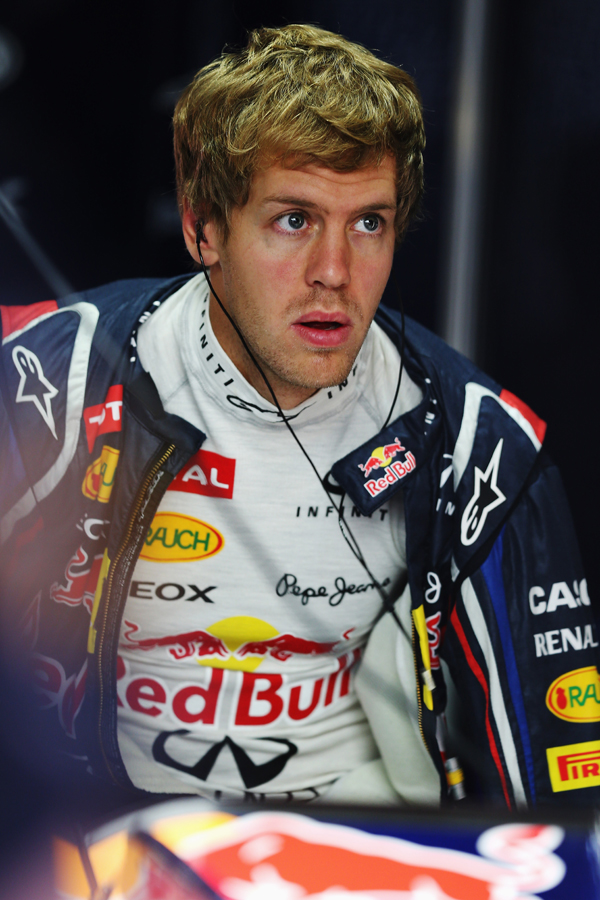 A pensive Sebastian Vettel - Red Bull photo