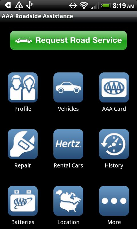 AAA Roadside Assistance app on Android