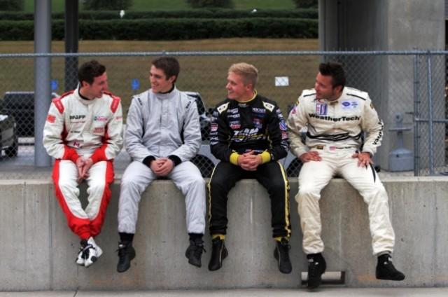 Academy participants Marcelli, Johnston, Pigot and MacNeil - image: Porsche