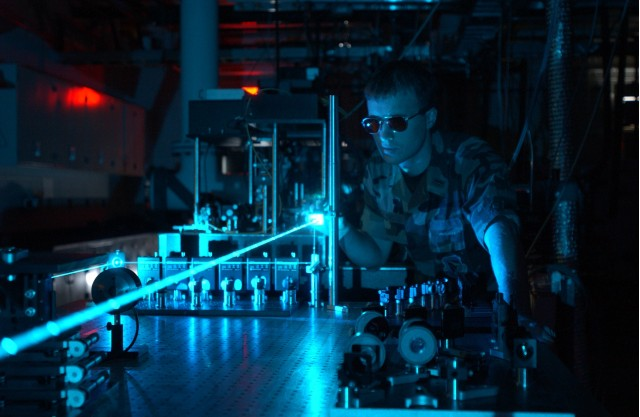 Air Force laser experiment