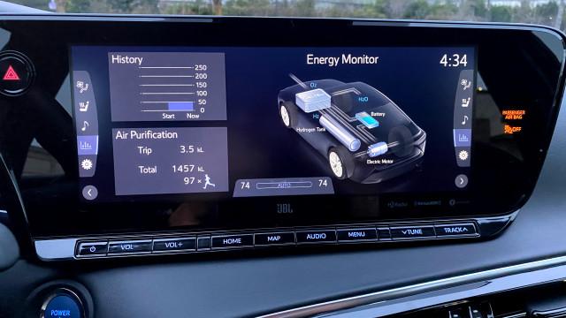 Air purification displays - 2021 Toyota Mirai