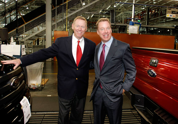 Bill ford jr finally gets paid after five years for Ford motor company alan mulally