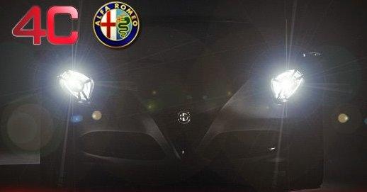 Alfa Romeo 4C Concept teaser for 2011 Frankfurt Auto Show